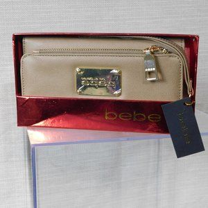 BEBE TAUPE NORA WALLET CLUTCH BY LOS ANGELES